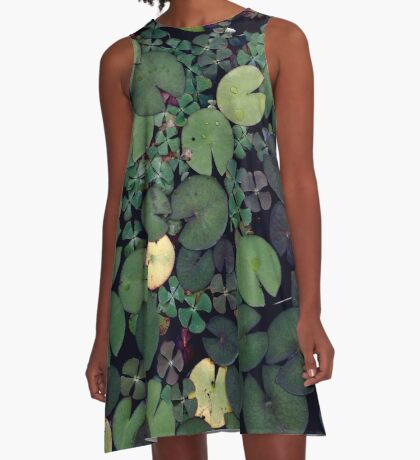 Lily Pads A-Line Dress
