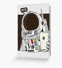 Houston... We have a Coffee!  Greeting Card