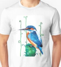 Watercolour Kingfisher Unisex T-Shirt