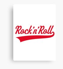 Rock 'n' Roll (Red) Canvas Print