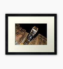 Santa Justa Elevator - a Beautifully Decorated Architectural Marvel in Lisbon Portugal Framed Print