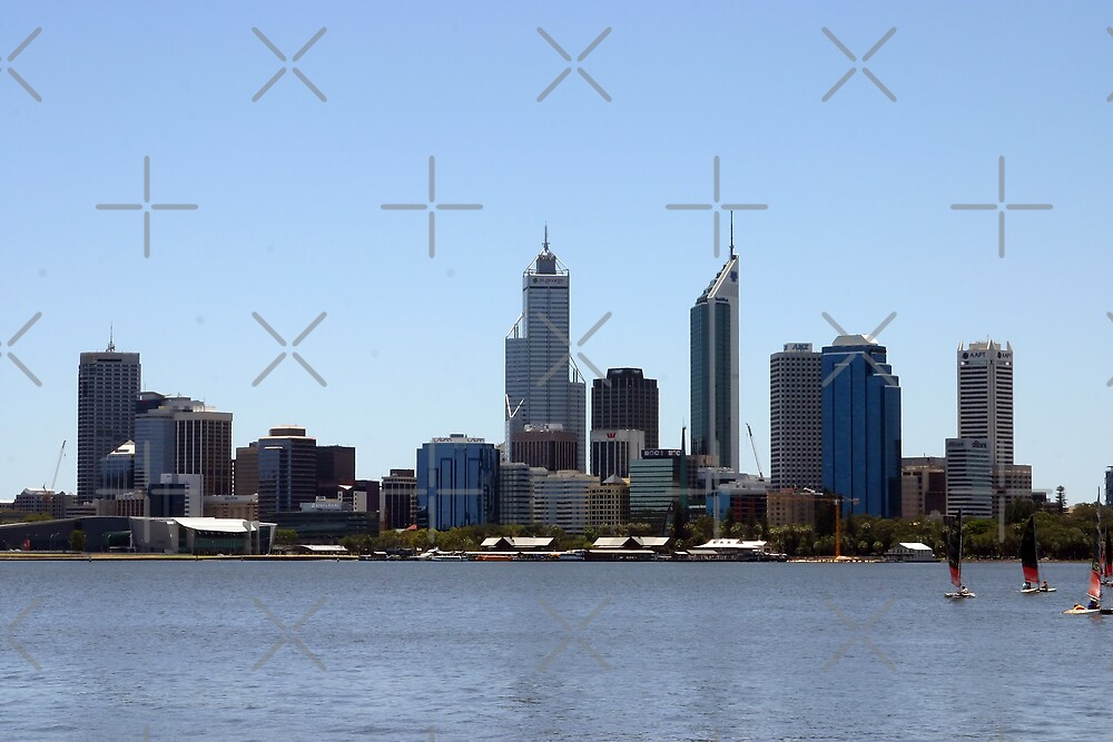 Perth Skyline by Sandra Chung