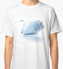 Swan origami vector Classic T-Shirt