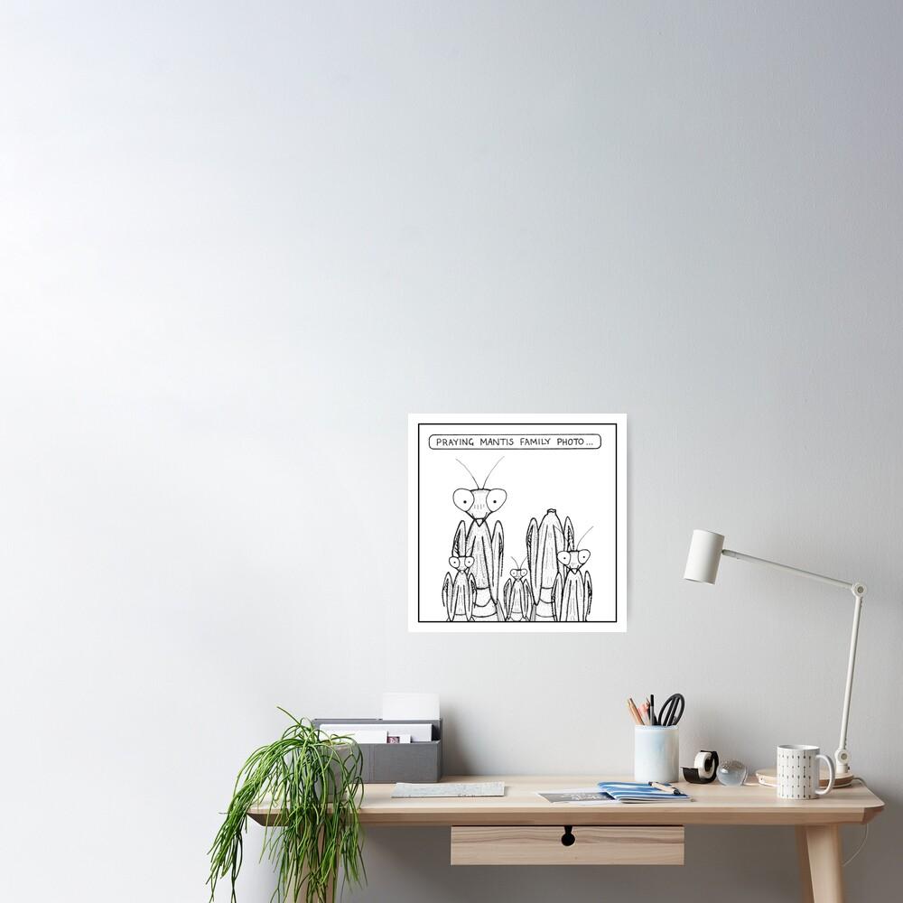 Praying Mantis family photo Poster