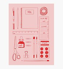 Stationery Obsessed Photographic Print