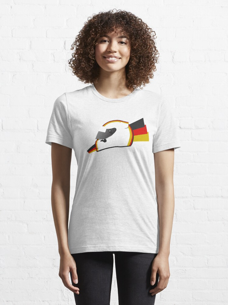 Alternate view of Current German racing driver Helmet design Essential T-Shirt