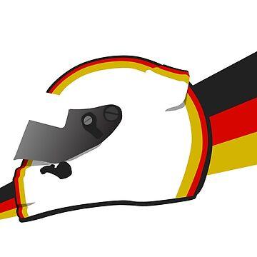 Current German racing driver Helmet design by FelixR1991