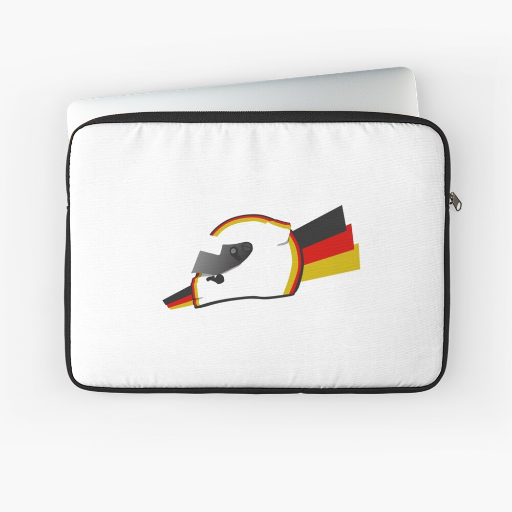 Current German racing driver Helmet design Laptop Sleeve