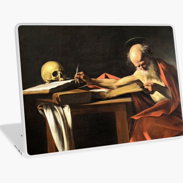 Old vintage painting by Caravaggio Laptop Skin