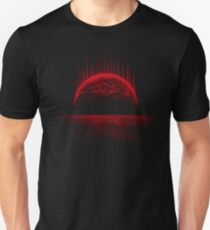 Lost Home! Colosal Future Sci-Fi Deep Space Scene in diabolic Red Unisex T-Shirt