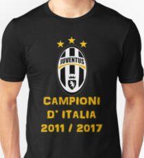 Juventus Campione d'Italia 2011 2017 Unisex T-Shirt