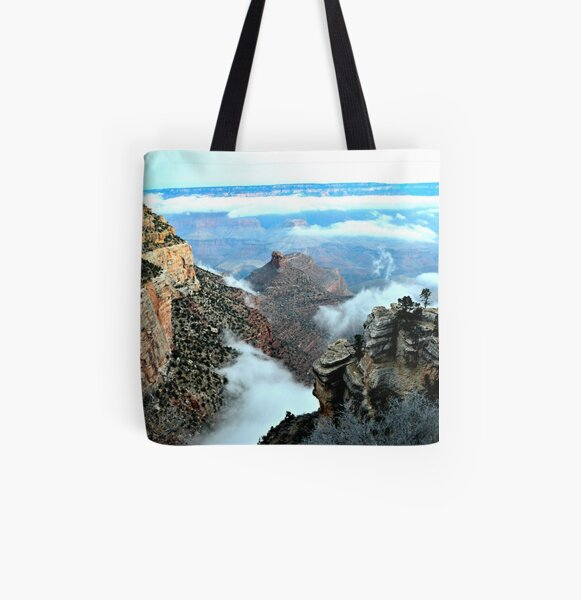 Otherworldly Grand Canyon Sunrise In Arizona  All Over Print Tote Bag