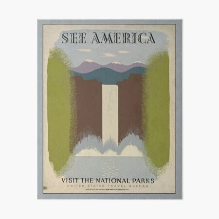 SEE AMERICA National Park Service Poster WPA Art Board Print