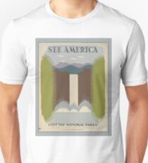 SEE AMERICA National Park Service Poster WPA T-Shirt