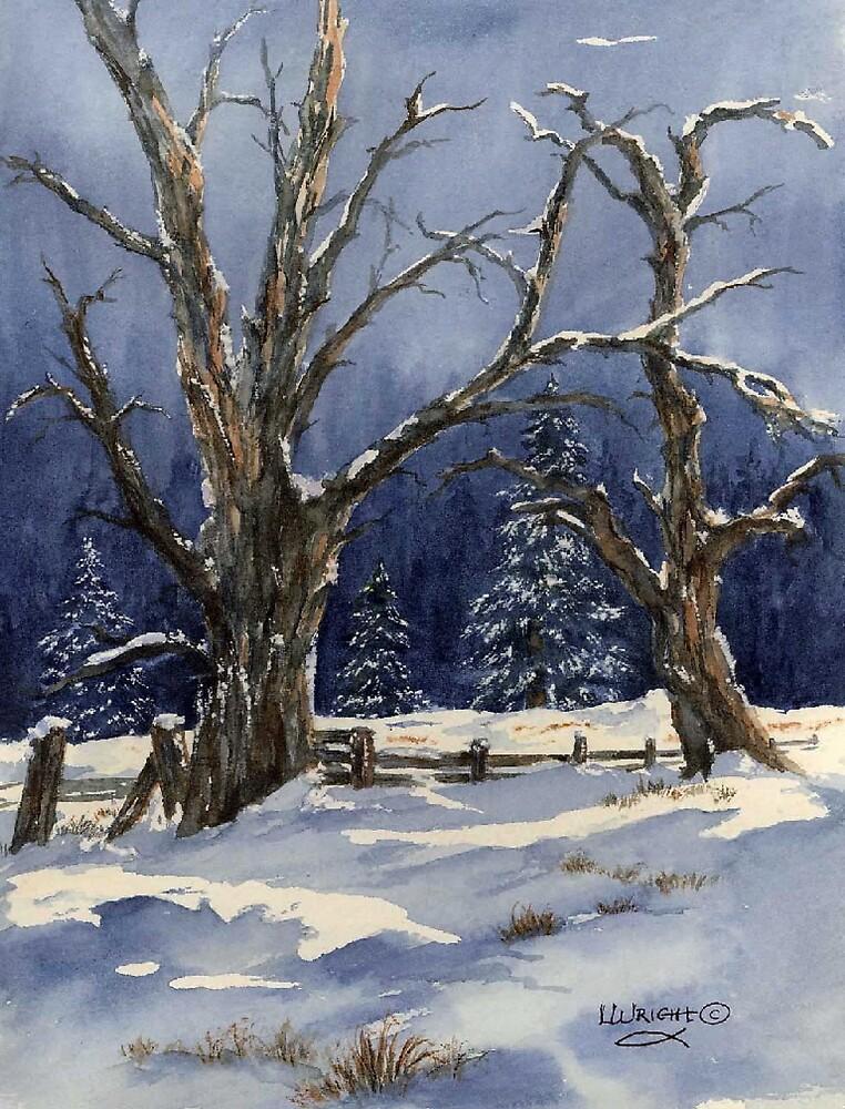 Snowy Fence by Lynne Wright