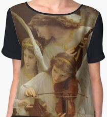 Angels by William Bouguereau Chiffon Top