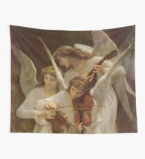 Angels by William Bouguereau Wall Tapestry
