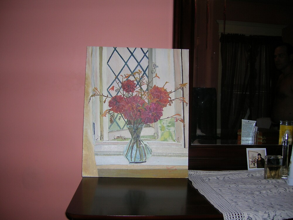 Flowers By A window by Wisepearl