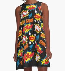 Comic-Buch-Explosion A-Linien Kleid