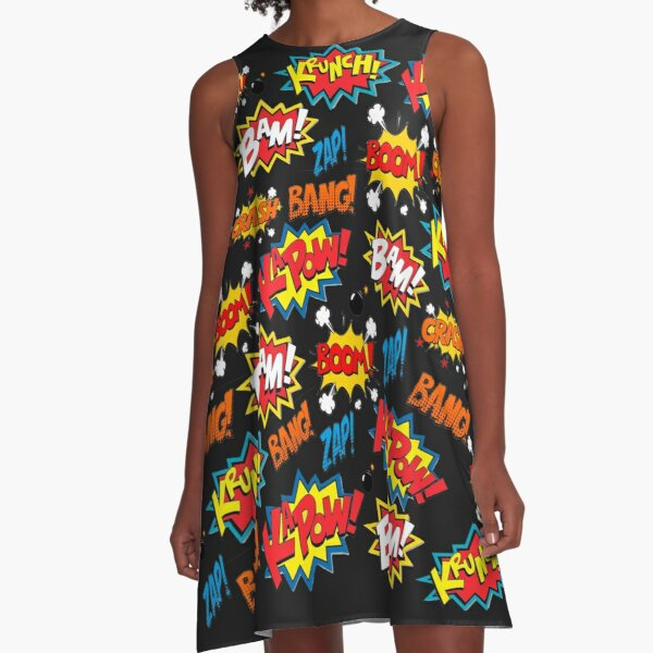 Comic Book Explosion A-Line Dress