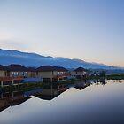 Myanmar. Inle Lake. Hotel. Twilight. by vadim19