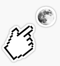 Finger pointing at the Moon ~ Zen Proverb Sticker