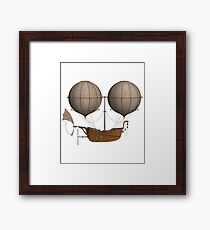 Steampunk Airship Design - Double Balloon Boat Design Framed Print