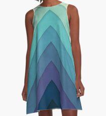 Retro Chevrons 001 A-Line Dress