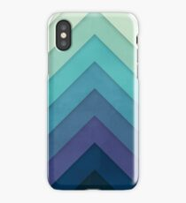 Retro Chevrons 001 iPhone Case