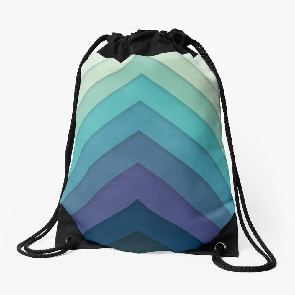 Retro Chevrons 001 Drawstring Bag