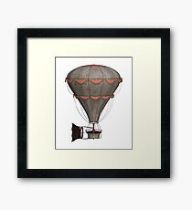 Steampunk Single Balloon Design Framed Print
