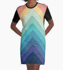 Retro Chevrons 002 Graphic T-Shirt Dress