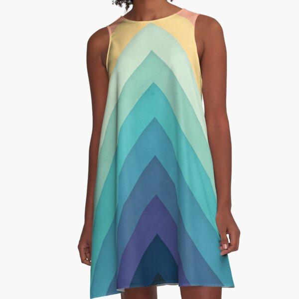 Retro Chevrons 002 A-Line Dress