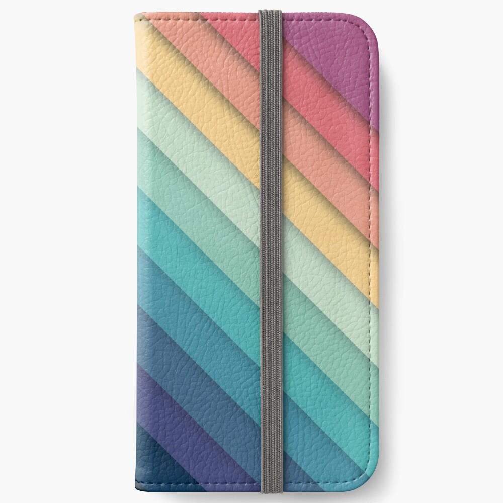 Retro Chevrons 002 iPhone Wallet