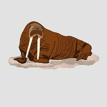 Pacific Walrus by artsandherbs