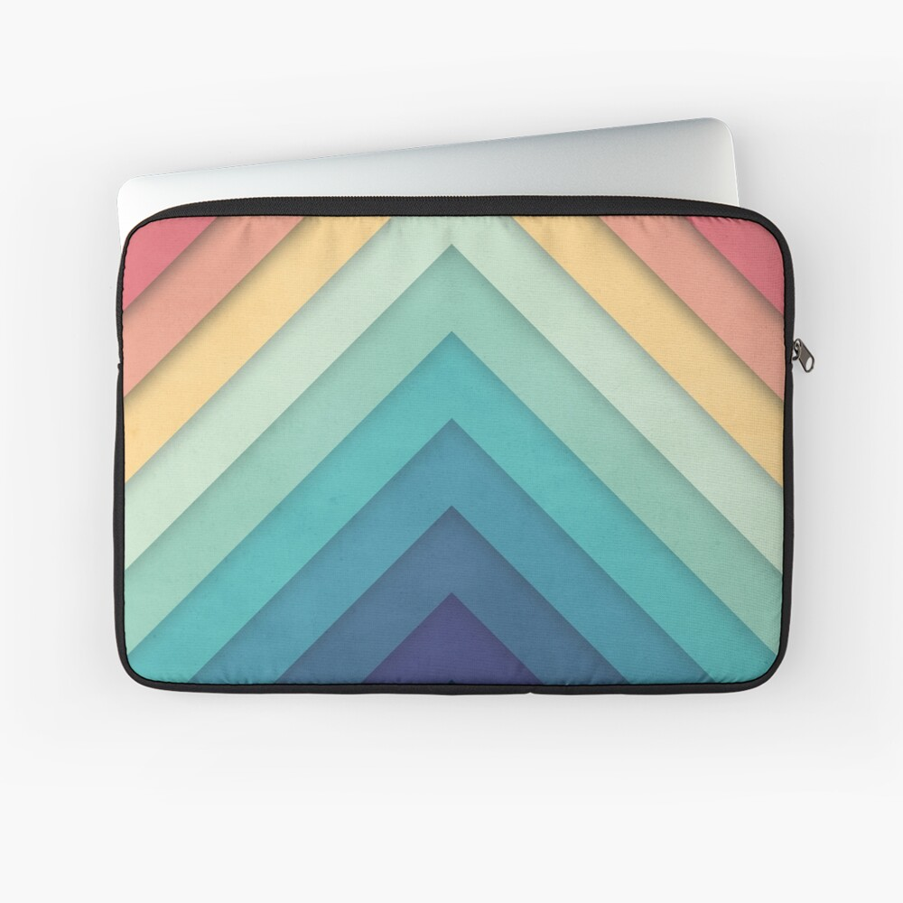 Retro Chevrons 002 Laptop Sleeve Front