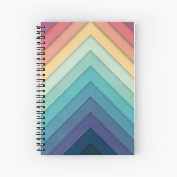 Retro Chevrons 002 Spiral Notebook