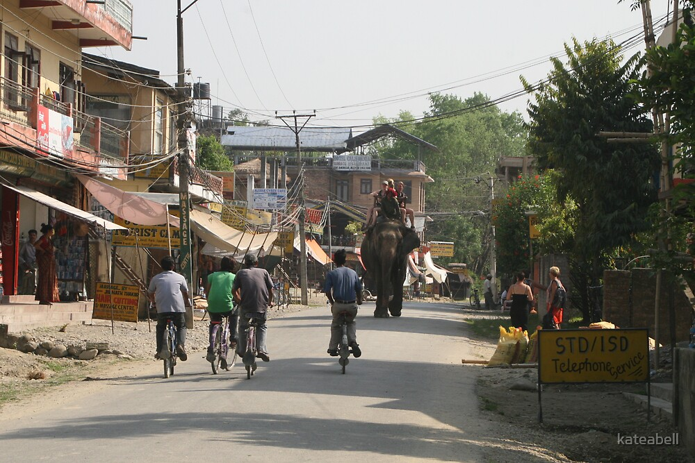 Chitwan Main street by kateabell