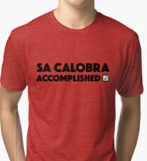 Sa Calobra Accomplished Cycling Mallorca Majorca Climb Spain  Tri-blend T-Shirt