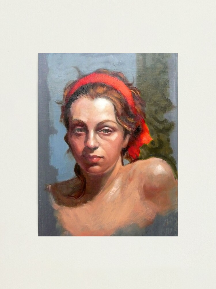 Alternate view of Portrait of Phoebe ~ oil Photographic Print