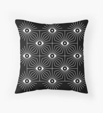 Electric Eyes - Black and White Throw Pillow
