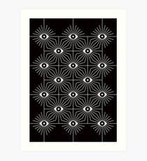 Elektrische Augen - Schwarz und Weiß Kunstdruck