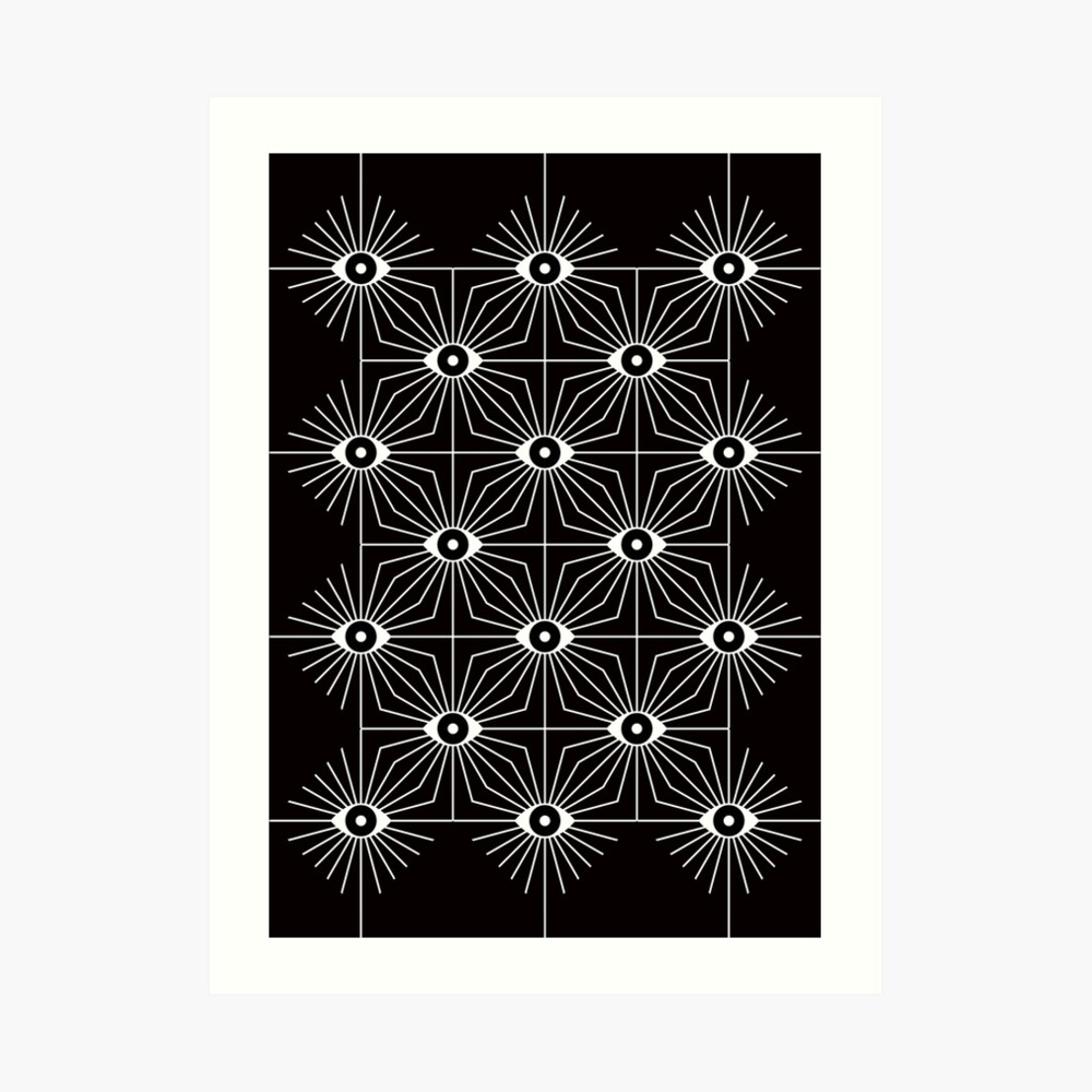 Electric Eyes - Black and White Art Print