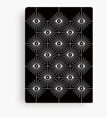 Electric Eyes - Black and White Canvas Print