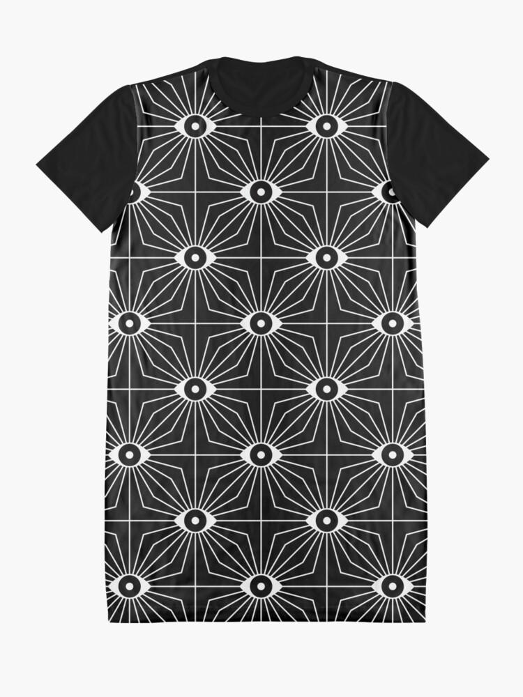 Alternative Ansicht von Elektrische Augen - Schwarzweiss T-Shirt Kleid