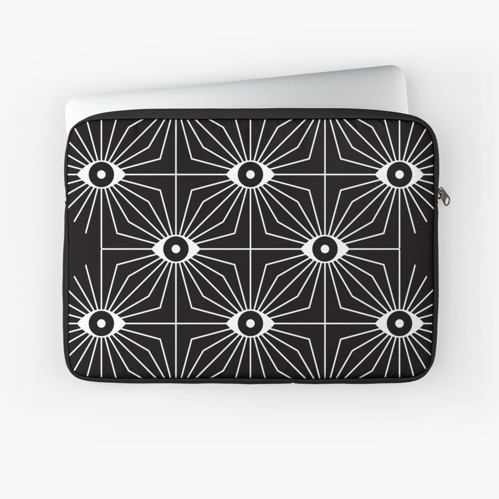 Electric Eyes - Black and White Laptop Sleeve