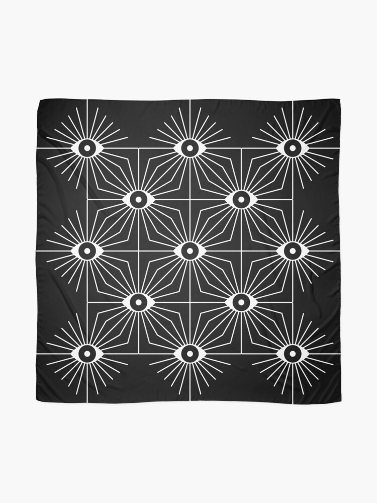 Alternate view of Electric Eyes - Black and White Scarf