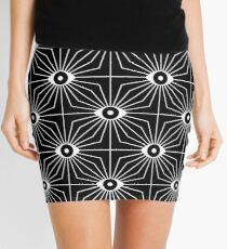 Electric Eyes - Black and White Mini Skirt
