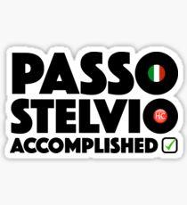 Passo Stelvio Accomplished Italy Cycling Stelvio Pass Climb Giro d'Italia Sticker