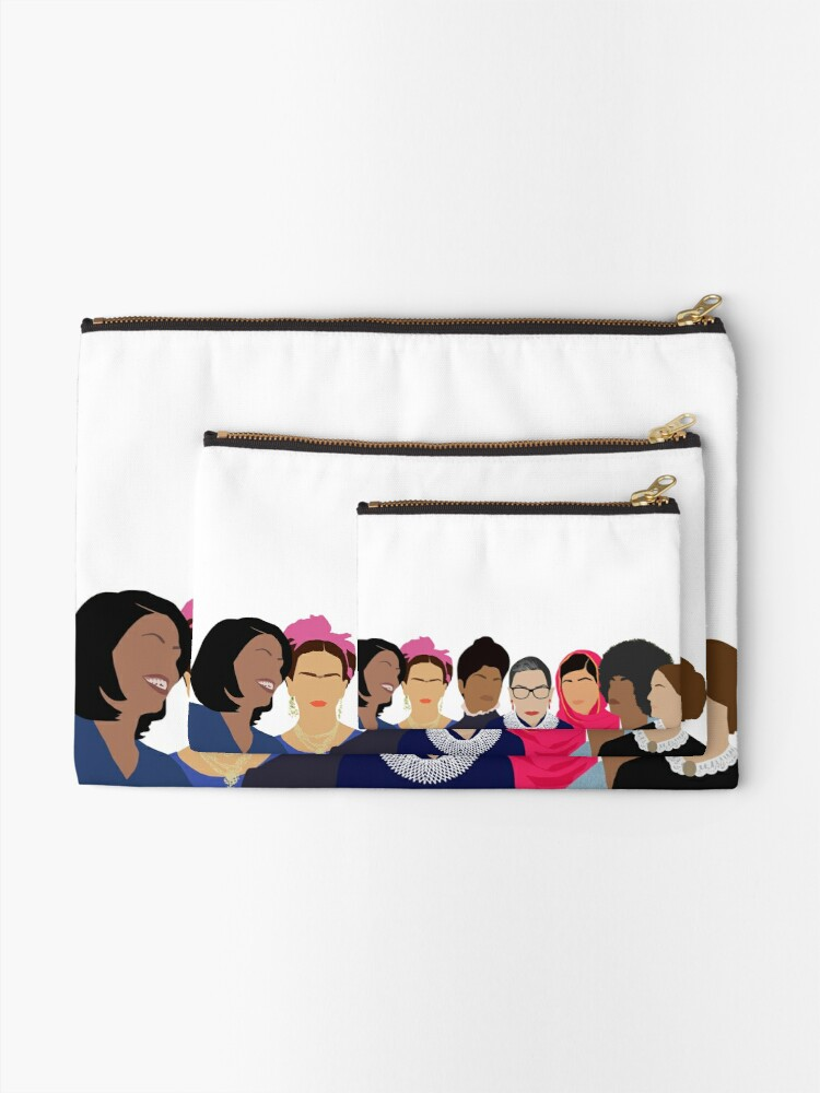 Alternate view of Feminist Girl Gang- Squad Goals Zipper Pouch
